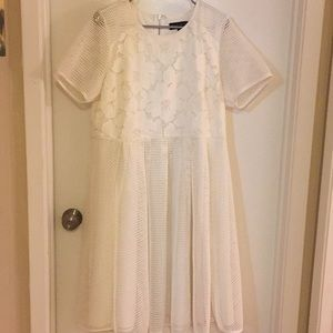 Like New White Embroidered/Lace Dress